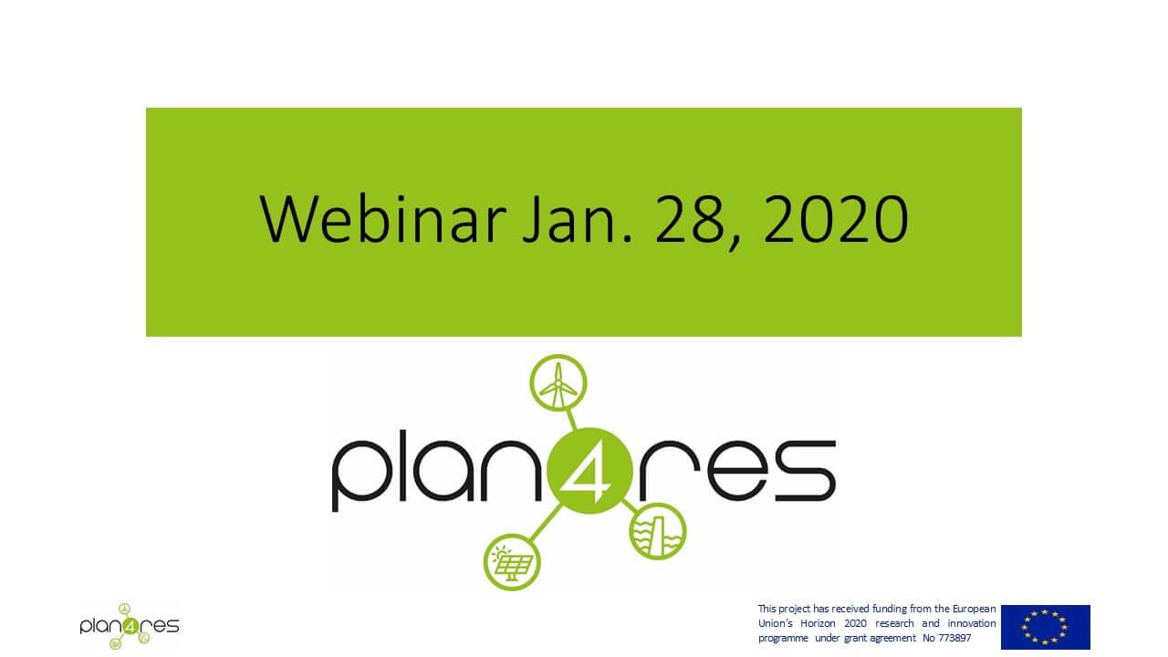 Plan4res Webinar